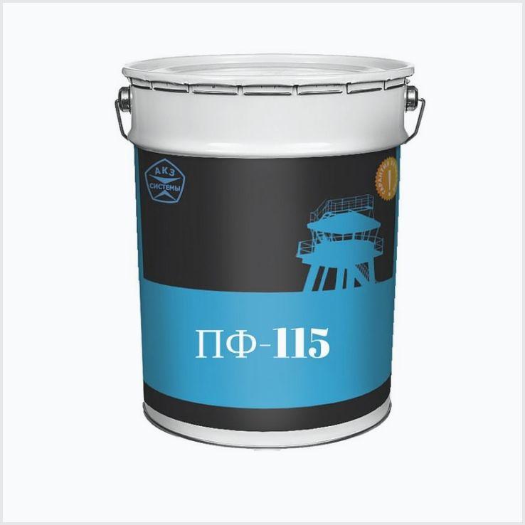 Краска-эмаль пф 115 и ее расход на 1 м2
