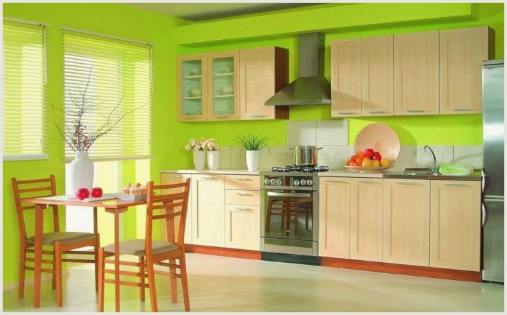Моющаяся краска для стен кухни: разновидности материала и технология окрашивания
