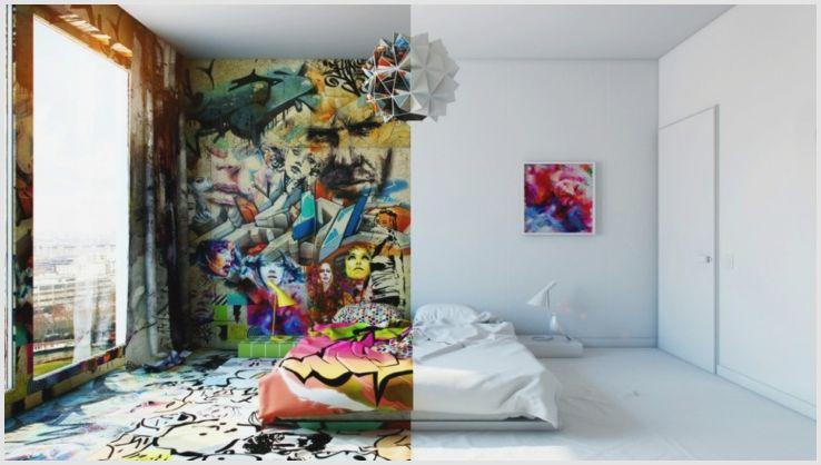 Баллончики для граффити, рисунки на улице и в интерьере