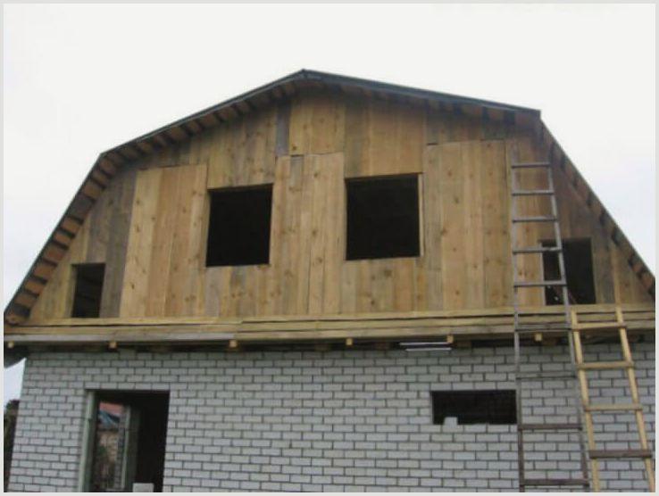 Как обшить фронтон дома?
