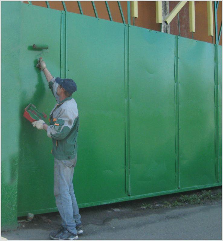 Как покрасить железные ворота красиво и надолго