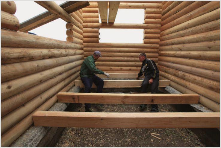 Обустройства пола в деревянном доме своими руками