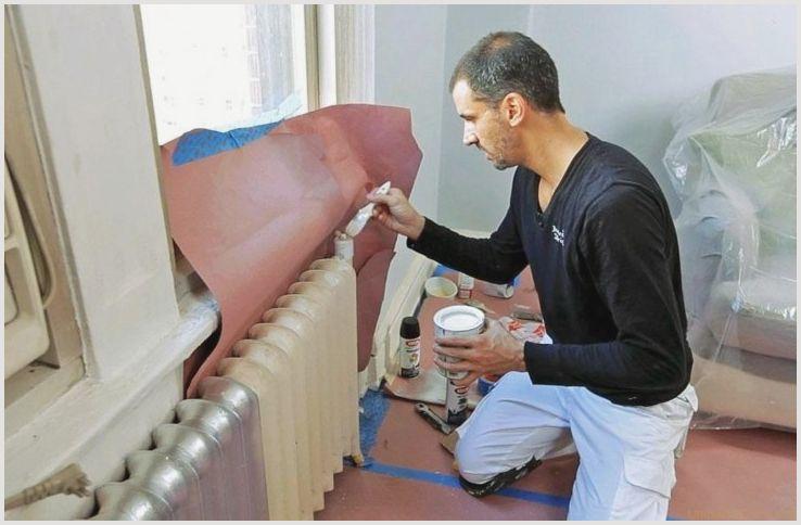 Окраска труб, окраска систем отопления