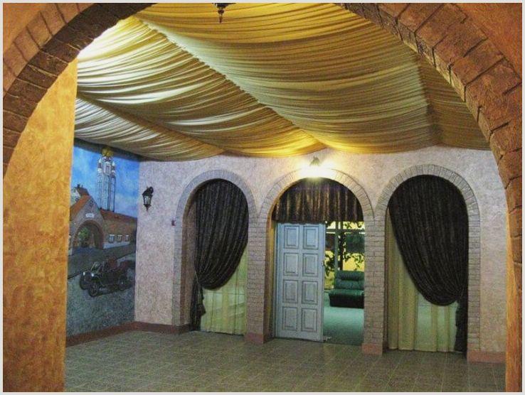 Сказочный потолок из ткани своими руками